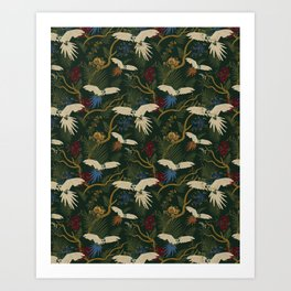 JUNGLE GREEN Art Print