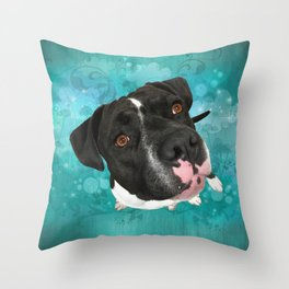 SMiTHY (shelter pup) Throw Pillow