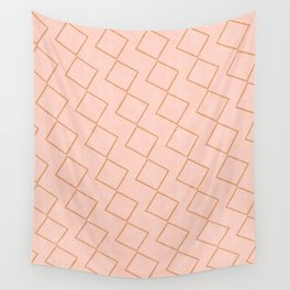 Tilting Diamonds in Peach Wall Tapestry