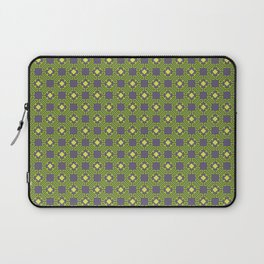 Digital Circuits Geometric Seamless Pattern Laptop Sleeve