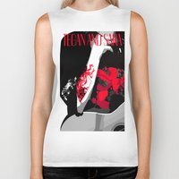 tegan and sara Biker Tanks featuring Tegan and Sara Ugly Sweater Party by REBEL -Lion