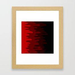 Splash of colour (red) Framed Art Print