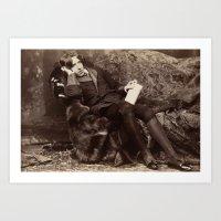 oscar wilde Art Prints featuring Oscar Wilde by TilenHrovatic