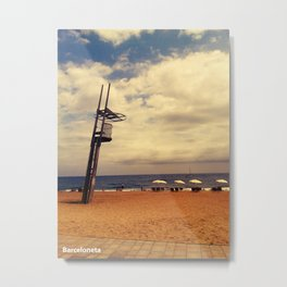 Barceloneta Metal Print