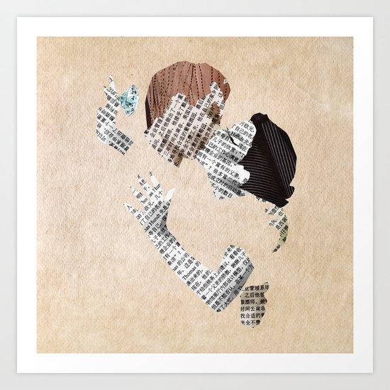 Retro Love Art Print
