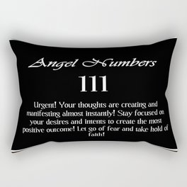 angel number 111 Black & White Affirmation Rectangular Pillow