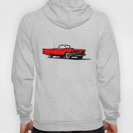 Red 1950s American Sports Car Hoody