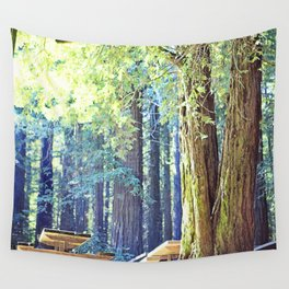 Picnic in the Woods Wall Tapestry