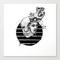 picasso Canvas Prints featuring Picasso by Benson Koo