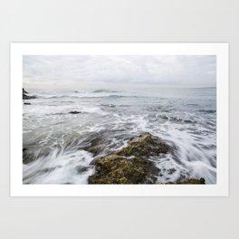 seascape, island coast Art Print
