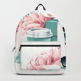 Breakfast at Tiffany Fashion Illustration Backpack