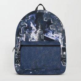 Cottbus Skyline by carographic, Carolyn Mielke Backpack