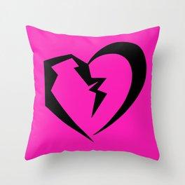 Hot Pink Heartbreak Throw Pillow