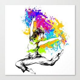 Hip hop dancer jumping Canvas Print
