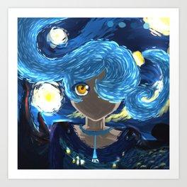 Starry Night Eye Art Print