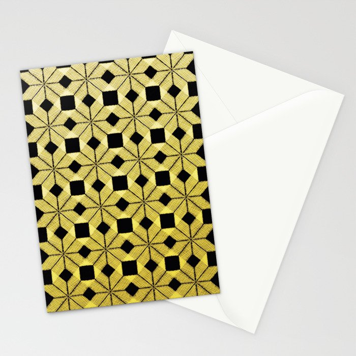 Golden Snow Stationery Cards