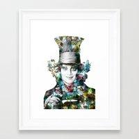 mad hatter Framed Art Prints featuring Mad Hatter by NKlein Design