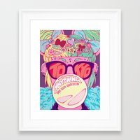 travel poster Framed Art Prints featuring Tokyo Travel Poster by Caitlin Quirk