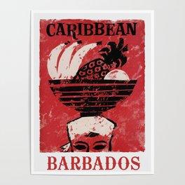Barbados - Vintage Caribbean Travel Poster