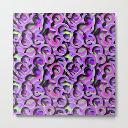 Tie-Dye Hole-Punch Offal Metal Print