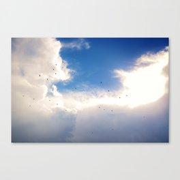 Golden Flight Canvas Print