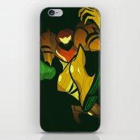 samus iPhone & iPod Skins featuring SAMUS by Jemma Salume