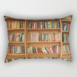 Bookshelf Books Library Bookworm Reading Rectangular Pillow