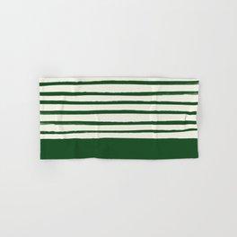 Holiday x Green Stripes Hand & Bath Towel