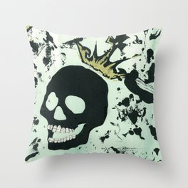 Last Laughing Skull Throw Pillow