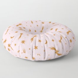 Mini Meteors Gold Floor Pillow