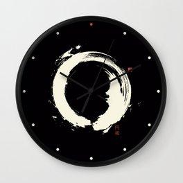 Black Enso / Japanese Zen Circle Wall Clock