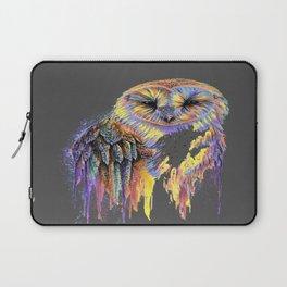 Colorful Owl Dark Background Laptop Sleeve