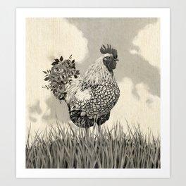 Barnyard Strut Art Print