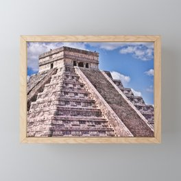 Kukulcan Mayan Pyramid at Chichen Iza Framed Mini Art Print