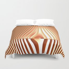 Bending the Bars of Rules - Pure Fractal Abstract Duvet Cover