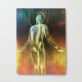 Dissecting the Alien Metal Print