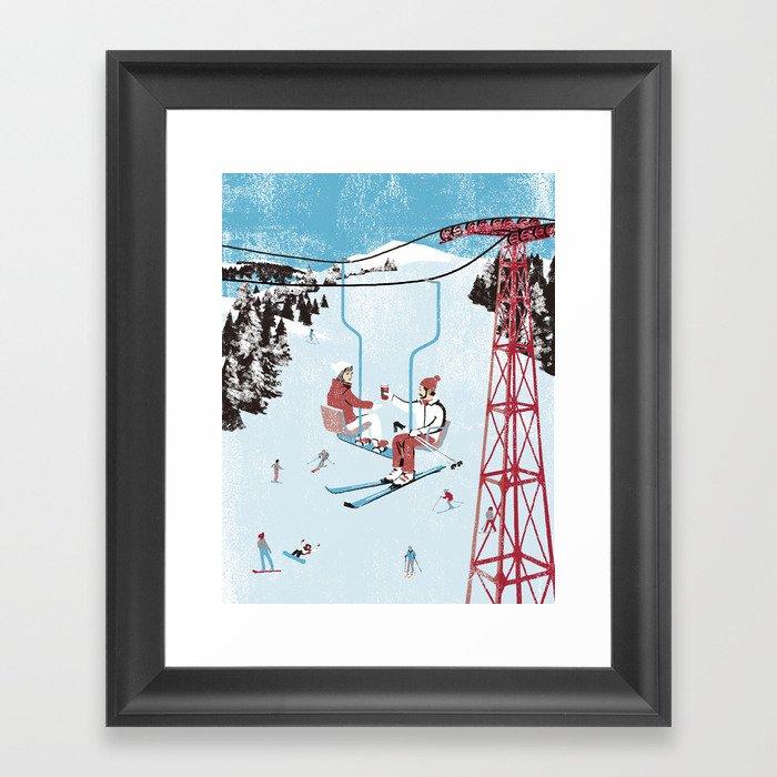 Ski Lift Gerahmter Kunstdruck