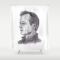 murray Shower Curtains featuring Bill Murray by jamestomgray