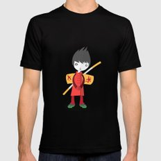Little Ninja Mens Fitted Tee Black MEDIUM