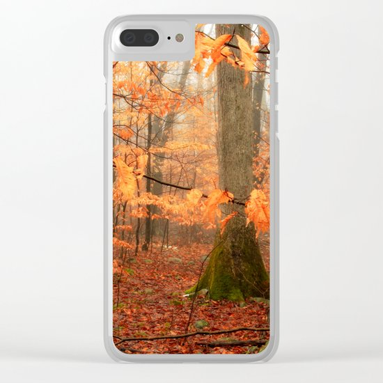 Mystic Autumn Forest Clear iPhone Case