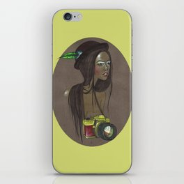 Girl with Camera iPhone Skin
