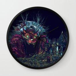 Scaredy Cat Wall Clock
