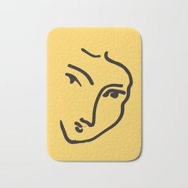 Wall Print | Abstract Faces Line Art Drawing, Illustration, Art Print, Poster, Scandinavian, Boho De Bath Mat
