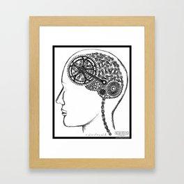Bike Brain Framed Art Print