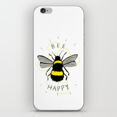 Bee Happy iPhone & iPod Skin