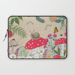 Toadstools in the Woods Laptop Sleeve