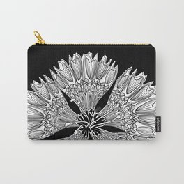 Flower Power - black/white Carry-All Pouch