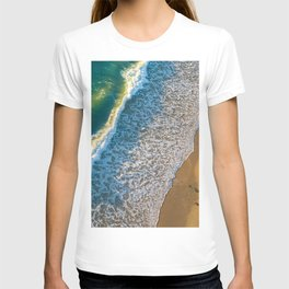 Waves on The California Coast Aerial Nature Photography T-shirt