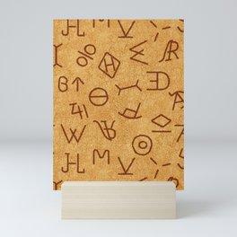Cattle Brands on Leather Mini Art Print