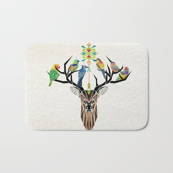 deer birds Bath Mat